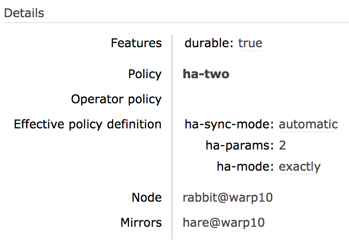 Highly Available (Mirrored) Queues — RabbitMQ