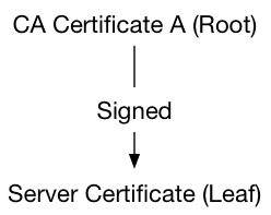 Root CA and leaf certificates